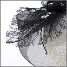 Load image into Gallery viewer, Quirky Black Butterfly Crinoline Hatinator on Headband