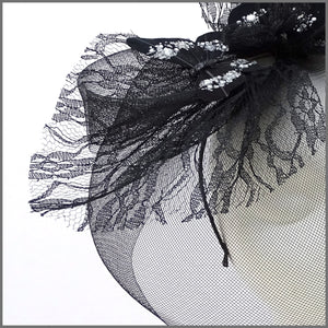 Quirky Black Butterfly Crinoline Hatinator on Headband