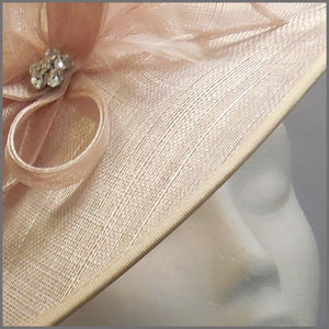 Race Day Ladies Hatinator in Blush Nude