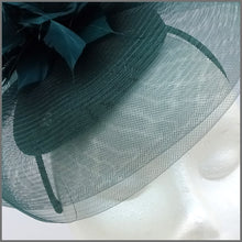 Load image into Gallery viewer, Racing Green Crinoline Hatinator on Headband