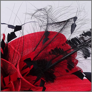 Claudia Hat - Red & Black
