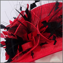 Load image into Gallery viewer, Claudia Hat - Red & Black