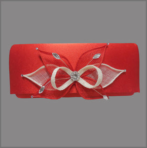 Red Satin Clutch Bag Accessory for Formal Event