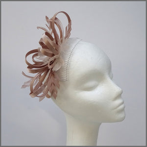 Satin Blush/Nude Looped Special Occasion Fascinator
