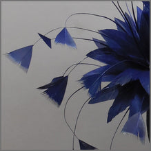 Load image into Gallery viewer, Simple Navy Blue Feather Flower Side Fascinator