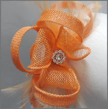 Load image into Gallery viewer, Small Apricot Fascinator for Special Occasion