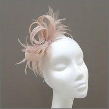 Load image into Gallery viewer, Small Wedding Guest Fascinator in Blush Pink