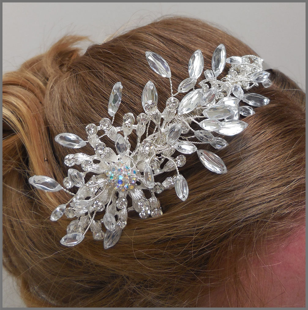 Sparkly Crystal & Diamanté Bridal Side Tiara