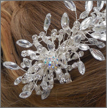 Load image into Gallery viewer, Sparkly Crystal & Diamanté Bridal Side Tiara