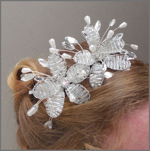 Sparkly Crystal & Pearl Bridal Wedding Tiara