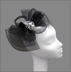 Special Occasion Crinoline Fascinator in Black