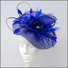 Load image into Gallery viewer, Special Occasion Feather Hatinator in Regal Blue