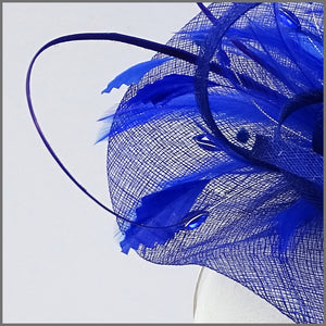 Race Day Feather Hatinator in Regal Blue