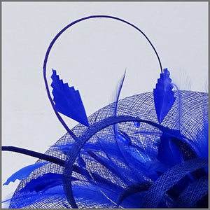 Wedding Feather Hatinator in Regal Blue