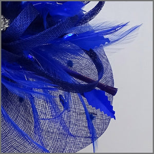 Special Occasion Feather Hatinator in Regal Blue