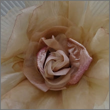 Load image into Gallery viewer, Stunning Large Floral Fascinator in Ivory & Champagne Gold