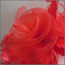 Load image into Gallery viewer, Stunning Red Rose Crinoline Occasion Hatinator