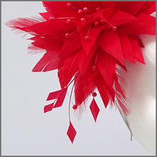 Load image into Gallery viewer, Unique Full Feather Red Formal Fascinator