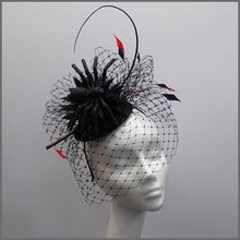Load image into Gallery viewer, Web Effect Black Spider Halloween Headpiece