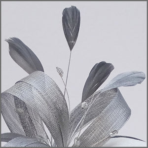 Wedding Guest Fascinator in Metallic Silver