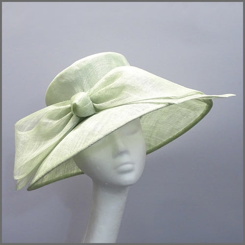 Wedding Hat in Pale Green with Bow