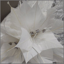 Load image into Gallery viewer, White & Dove Grey Ladies Day Floral Hatinator