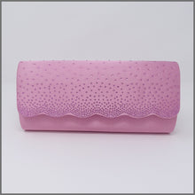 Load image into Gallery viewer, Women's Candy Pink Satin Clutch Evening Bag