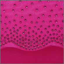 Load image into Gallery viewer, Women's Fuschia Pink Satin Clutch Bag with Diamanté