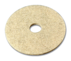 3M series 3500 17' natural havane high speed burnishing pad.