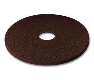 "3M series 7100, 13"" brown  low speed (wet/dry) scouring pad"