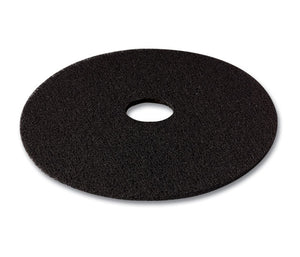 "3M series 7300 (high prod.) 18"" black low speed scouring pad"
