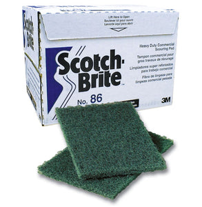 "3M SCOTCH -BRITE heavy duty green (6""x9"") pad"