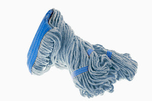 Wet mop blue 24 oz synt. Janiloop narrow band looped end