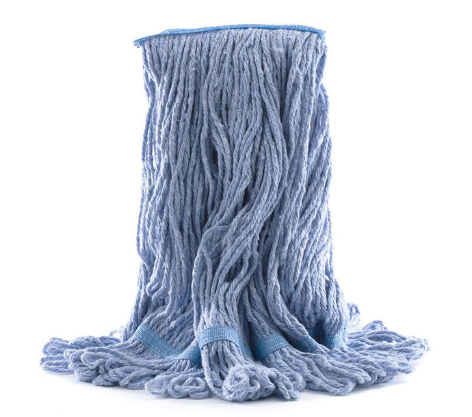 Wet mop blue 24 oz synt. Janiloop large band looped end