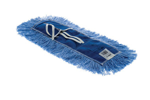 "Dry dust mop 5""x 24"" blue Astrolene treeted with tie-on"