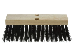 "Push street broom 16"" block wood haevy sweeping"