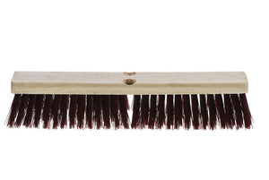 "Wood bloc push broom 18"" stiff sweep"