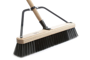 "Wood bloc complet broom 24"" with 60'' handle medium sweep"