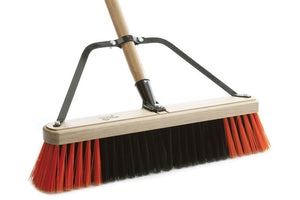 "Wood bloc complet broom 18"" with 60'' handle firm sweep"