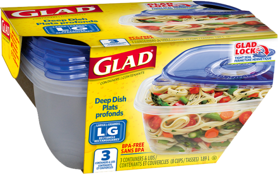 Gladware deep dish container
