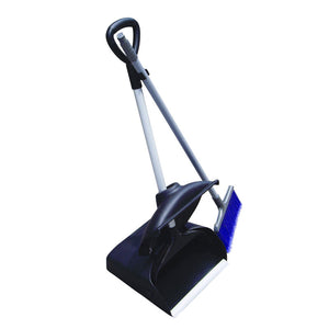 "Upright plastic dust pan 4.7""x4.7""x37"" with cover and broom"
