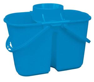 Devided blue pail with wringer 4 gal