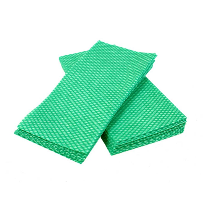 DURA PLUS LUXURY green/white foodservice towel