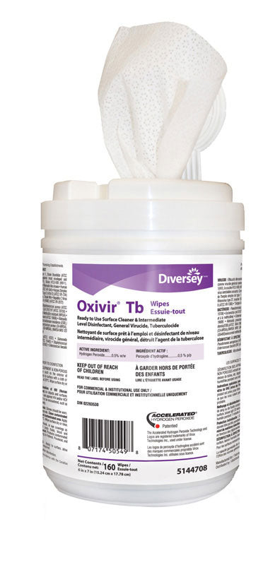 OXIVIR desinfectant wipes 160 ct