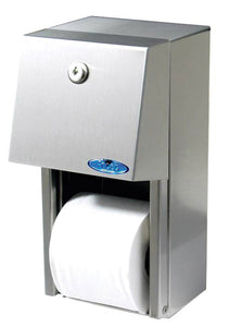 "Toilet paper disp. single roll 6""x12""x6.5"" stailess steel"