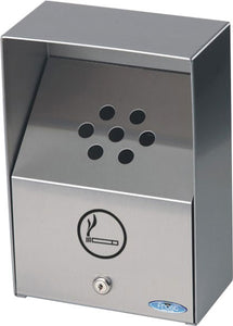 "(c-949) Heavy duty outdoor  ash-tray  stainless steel (9""X5""X13"")"