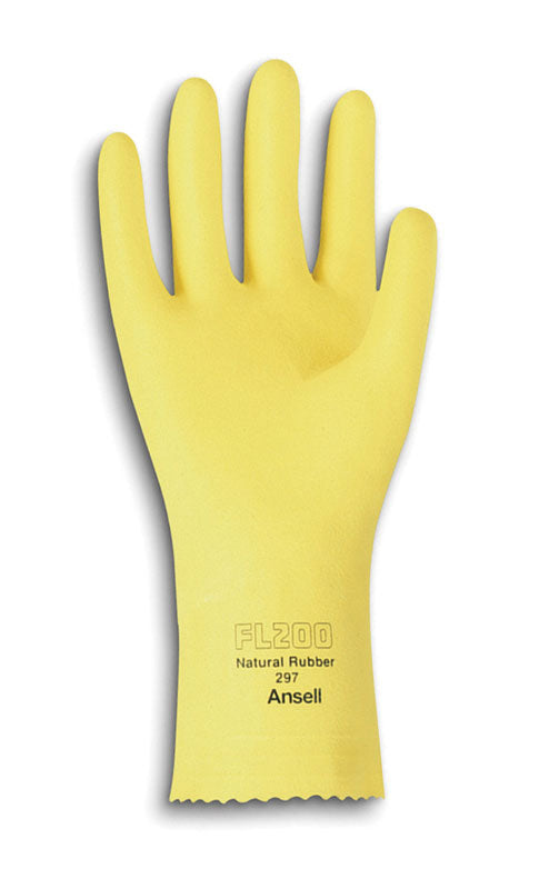 Quality latex gloves yellow X-LARGE 12 pairs