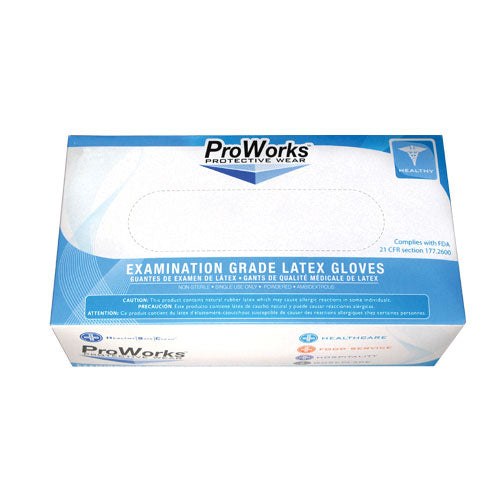 Powder free latex gloves*examination grade* size M natural color  100