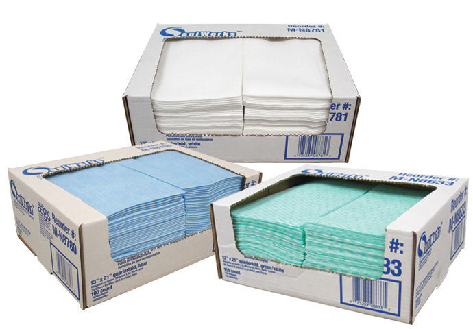 Repleaced hwf310 Saniworks Deluxe disposable towels blue 13