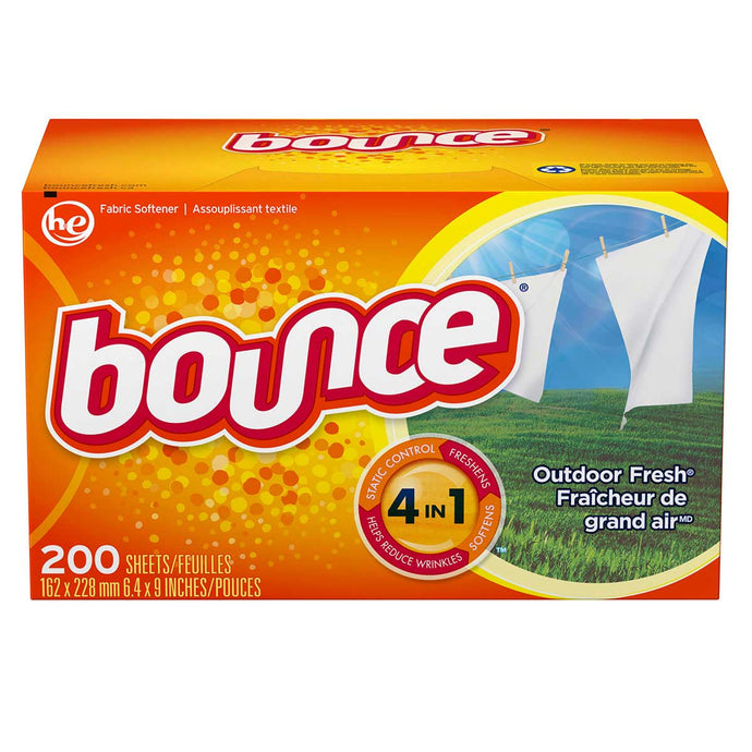 BOUNCE fabric softener sheets outdoor fresh scent (pk/200)